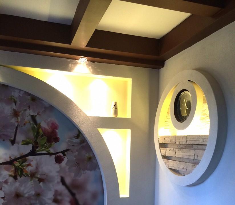 производился арка с подсветкой из гипсокартона фото стандартного размера